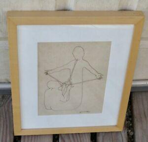 Original MARK KOSTABI Framed Ink Drawing / Illustration (Signed) Arrow Couple