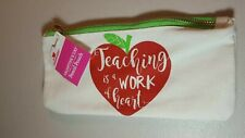 Canvas Pencil Pouch, Teachers Gift, New With Tags