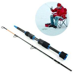 Ice Fishing Rod Short FRP Carbon Fiber Lightweight Retractable Telescopic Pole