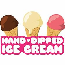 Hand Dipped Ice Cream 48 Concession Decal Sign Cart Trailer Stand Sticker Eq