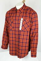 Duluth Men's Free Swingin' Wicking Flannel Shirt XL Red Earth Plaid 31210