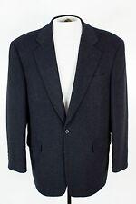 Christian Aujard Mens 42R Black Wool Camel Hair Sport Coat Blazer Jacket 2 Btn