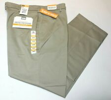 Lee Carefree Stretch Straight Fit Pebble Flat Front Performance Series Pants