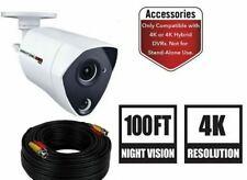 Night owl 4K UHD 8MP HD white bullet security camera CM-PTHD80W-BU