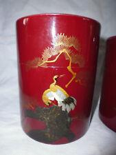 4 boite gigogne métal peint laqué arbre japonisant oiseau Japon courant XXe