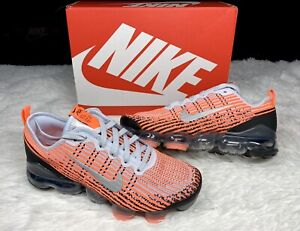 Nike Air VaporMax Flyknit 3 GS Mango Silver Peach Bright Crimson sz 6Y Women 7.5