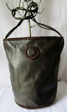 ***BORSA DONNA Secchiello WOMAN BAG rifinita a mano Made in Indonesia Marrone