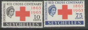 SEYCHELLES SG214/5 1963 RED CROSS MNH