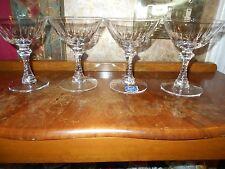 New Old Stock Imperial Lenox Crystal Champagne Dessert Sherbet Glasses Stems