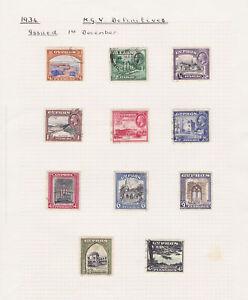 Cyprus. 1934. SG 133-143. 1/4pi to 45pi. Good/fine used.