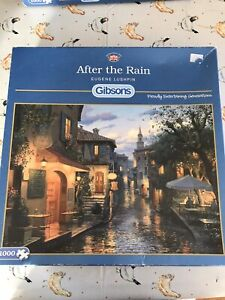 """Gibsons  1000 piece jigsaw puzzle - """"After The Rain"""". Used."""