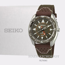 Authentic Seiko Men's Stainless Steel Prospex GMT Browl Dial Watch SUN061