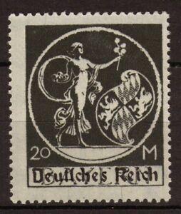 Allemagne Bayern 1920 N°215 20m Noir surch. N**. P110 P110