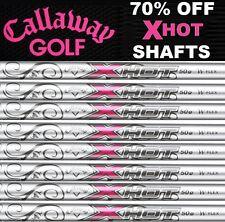 Callaway set of 8 GRAPHITE LIGHT WEIGHT IRON SHAFTS .370 HOT PINK X 50gr WOMENS