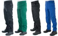 Mens Smart Work Trousers Durable Trade Pro 28 to 44 Black Navy Green Royal Blue
