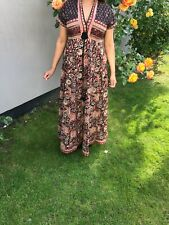 Brand New Maxi Dress Pink Floral Black and White Sizes 8 10 12 14 16 18