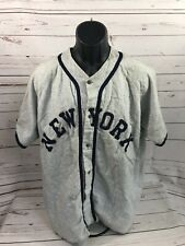 Vintage Early New York Baseball Jersey Button Front Old School Rare