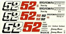 Fred Cady 128 #52 Broadway Motor Co Buick-Jimmy Means Nascar decal