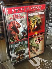Boa vs Python / Lake Placid 3 / Frankenfish / Chupacabra Terror (4-DVDS) NEW!
