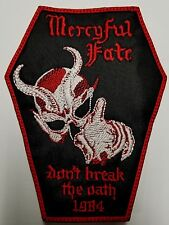 MERCYFUL FATE  COFFIN  EMBROIDERED  PATCH
