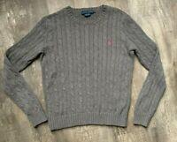 Lauren Ralph Lauren Sweater Heavy Cable Knit Womens Crew Neck Medium