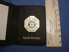 NYSP - NY STATE POLICE FOP P.BA LEATHER WALLET W/ MINI BADGE  LARGE ONE