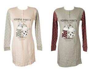 Camicia da notte manica lunga donna cotone interlock CRAZY FARM articolo 15549 p