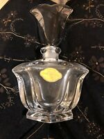 West German 24% Lead Crystal Tulip Shaped Perfume Bottle
