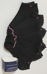 Tommy Hilfiger Women's 6-Pair Cushion No Show Socks 6-9.5  Black