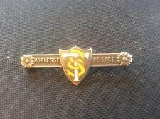 VINTAGE Antico c19th 1882 ARGENTO E SMALTO noblemans tie pin gioielli da uomo TSC