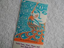 The Doors Original_1967_Concert Ticket_Fillmore West_San Francisco_Ex+