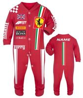Car racing baby grow babygrow furry red baby race romper suit made in UK