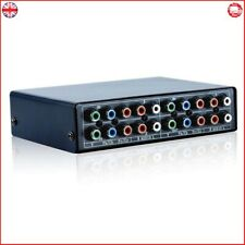 3 Port Component AV Video Switch Box Hub Splitter RGB Selector Converter 3 Input