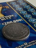 NEW LOTTERY SCRATCH-OFF COIN| GOOD FOR SCRATCH GAMES| EASY GRIP | CASH3 & CASH5