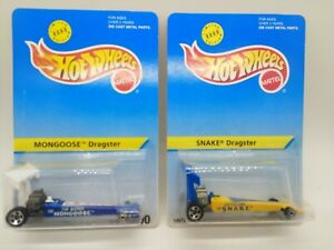 Snake & Mongoose Hot Wheels Collector # 90 & 91 Dragster 2 car lot limited