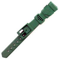 TAG HEUER 15MM GREEN RUBBER / SILICONE WATCH STRAP