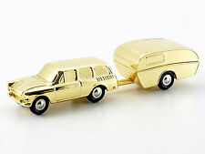 Schuco Piccolo 1500 VW Variant with Camper Gold Christmas 2007 # 50584000