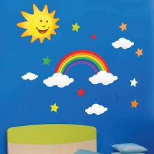 Rainbow Sun Star Cloud Wall Stickers Kids children Nursery Wall Decals