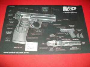 GENUINE SMITH & WESSON M&P MOUSE PAD WITH VERY DETAILED CUT-AWAY PARTS DIAGRAM