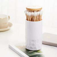 2pc Press Automatic Toothpick Boxes Holder Cotton Swab Box Toothpick Jar Barrel