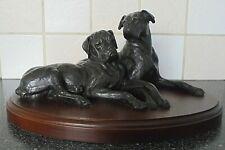 More details for vintage doris lindner bronze boxer dogs dog sculpture figurine .... free postage