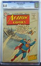 ACTION COMICS #214 CGC 8.0 Superman 1956 Showcase #1 Ad 2nd Highest Graded copy