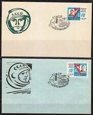 Soviet Russia 1963 Space covers Vostok-3 & Vostok-4 flight Nikolayev Popovich