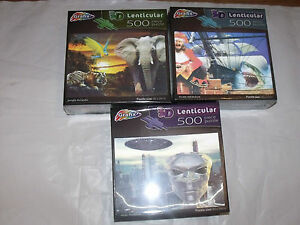 Grafix Lenticular 3D Jigsaw Puzzle 500 pieces 2 different themes to choose from
