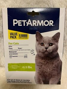 Genuine PetArmor for Cats & Kittens Over 8wks of age & >1.5lbs *FAST FREE SHIPN*