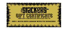 GOLDEN TICKET :redeemable for ONE 1HR KEYBOARD LESSON w VIC RUGGIERO * SLACKERS