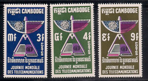 Cambodia   1970   Sc # 228-30   VLH   (1060)
