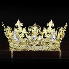 Men King Crown Homecoming Accessories Full Circle Round Gold Tiara
