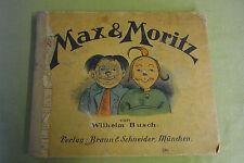 altes Kinderbuch - Max & Moritz - Verlag Braun & Schneider - München
