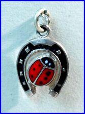 Supplie Bracelet remorque/porte-bonheur/ARGENT/fer à cheval/LUCKY CHARM/Horseshoe